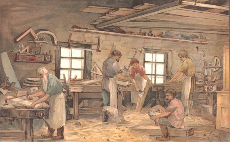 Intacto.me XVIII век производство в столярной мастерской